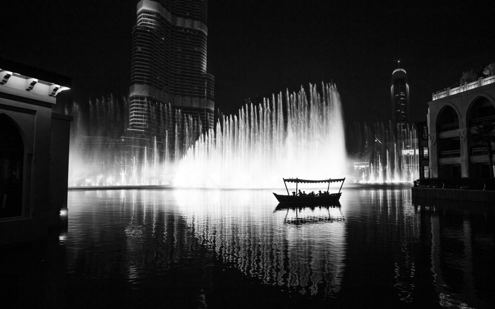 Dubai night scene photography